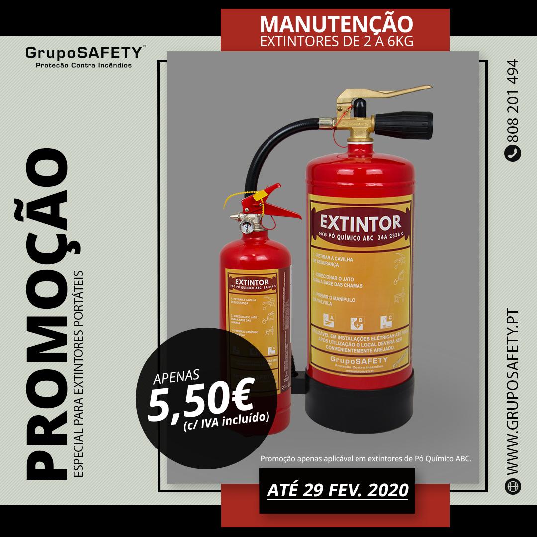 Promoção em Manutenção de Extintores Portáteis