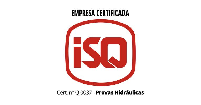 <b>Certificado Provas Hidráulicas</b> - ISQ NºQ 0037