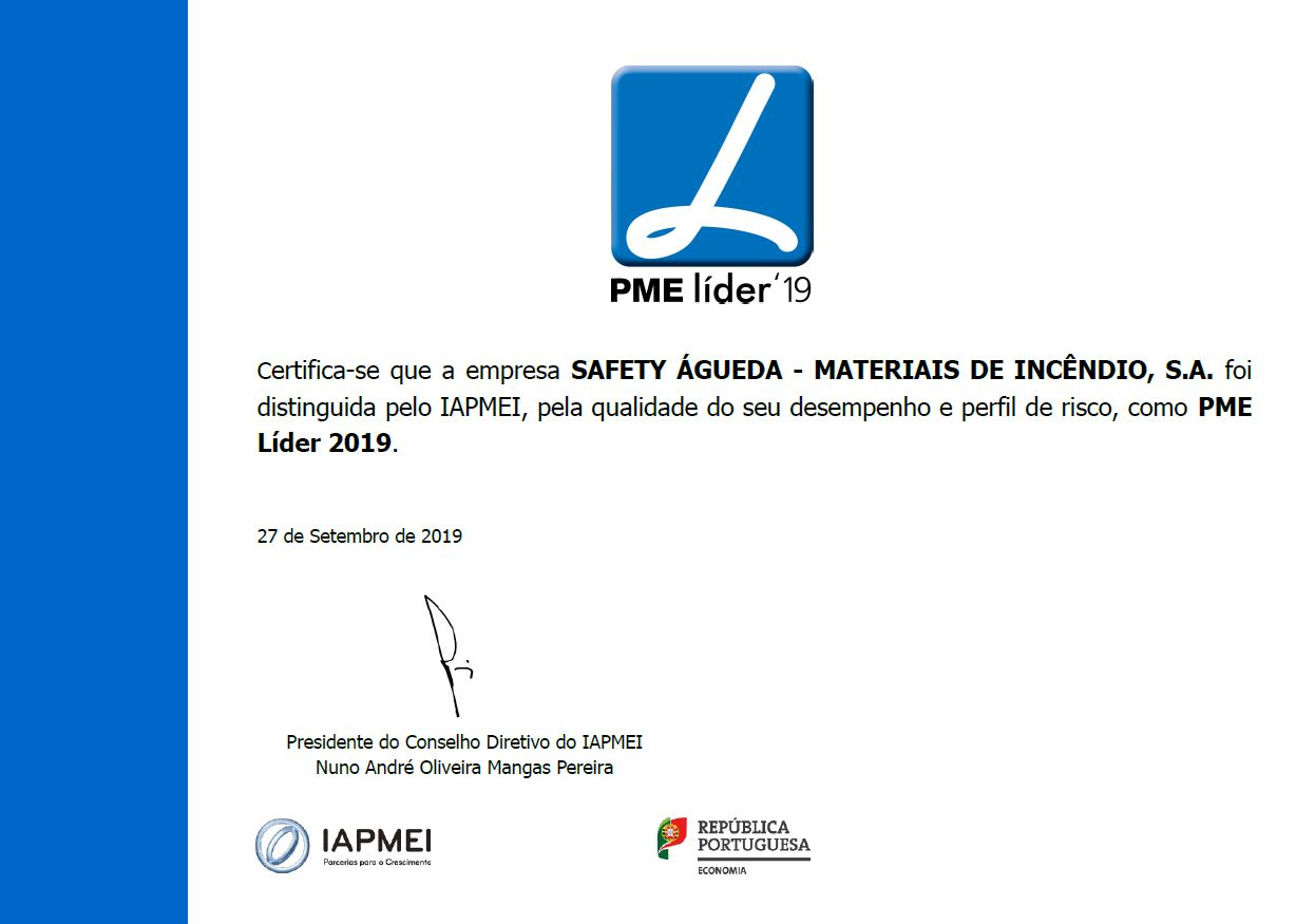 GrupoSAFETY distinguido como PME Líder 2019