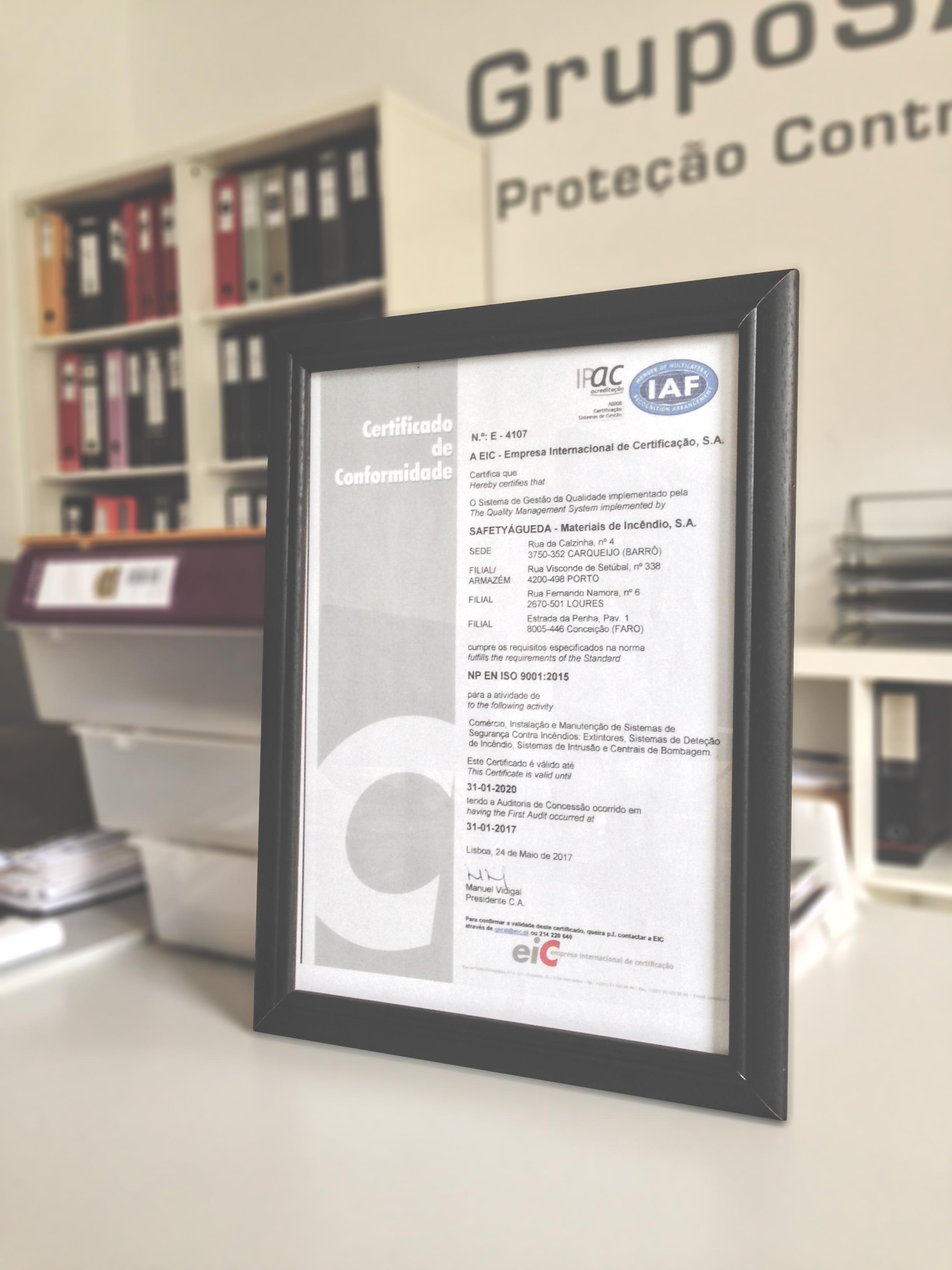 Certificado de Conformidade - ISO 9001